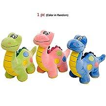 Stuffed Animal Dinosaur Toy For Baby Girl Boy,Soft Plush Animals Prehistoric Dinosaurs Cheap Cuddly Stuff Pillow For Nursery Closet Decoration,Festival Custom Toys(Blue/Green/Red,Random Color)
