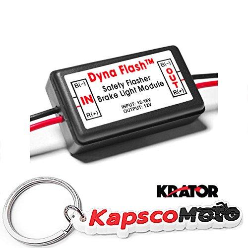 KapscoMoto Keychain Krator BRAKE LIGHT FLASHER LAMP MODULE FLASHER CAR TRUCK MOTORCYCLE SCOOTER REARALERT