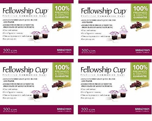 Fellowship Cup Communion Wafer & Juice - 4 X 500pk