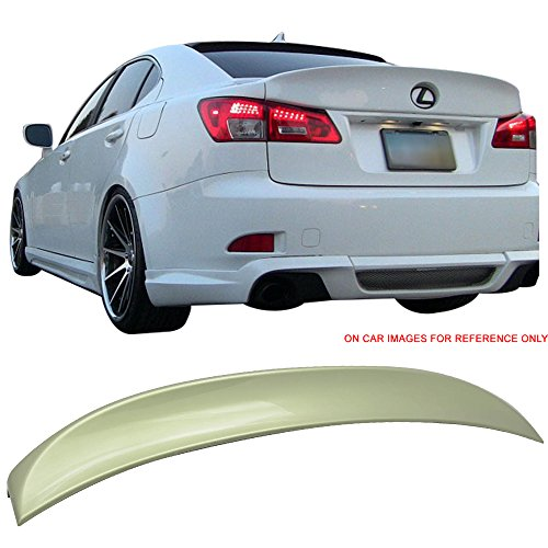 Pre-painted Trunk Spoiler Fits 2006-2013 Lexus IS250 350 IS-F | IK Style ABS Painted #6U3 Starfire Desert Sage Mica Trunk Boot Lip Wing Deck Lid Other Color Available By IKON MOTORSPORTS | 2007 2012
