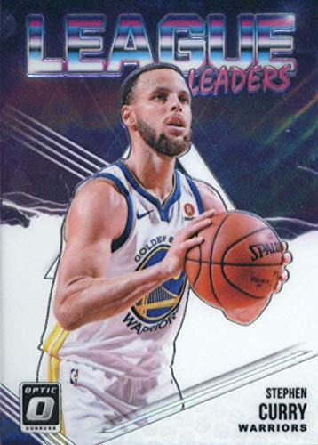 (2018-19 Donruss Optic League Leaders #8 Stephen Curry Golden State Warriors NBA Basketball Trading Card )