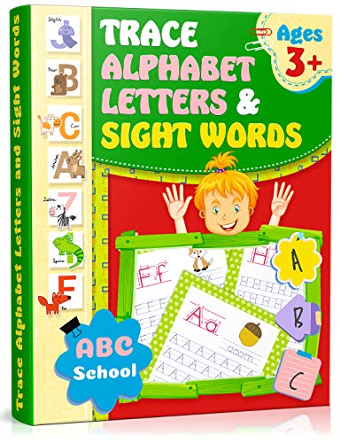 - Trace Alphabet Letters and Sight Words: Writing Skills for Kindergarten/Preschool. Activity Workbook for Kids, Preschool Practice Handwriting Workbook, Letter Tracing Book, Alphabet Writing Practice