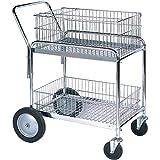 Mail Cart, 33 1/2'' x 23 3/4'' x 38 1/4'', Silver, 1/Each