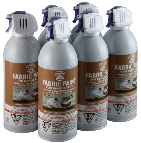 Simply Spray Upholstery Fabric Spray Paint 6 Pack Camel Brown by Simply Spray