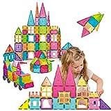 Sinceroduct Magnetic Tiles Building Blocks 124pcs
