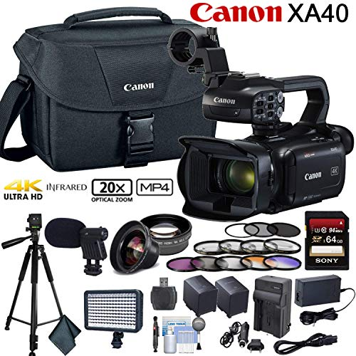 Canon XA40 Professional UHD 4K Camcorder Advanced Bundle