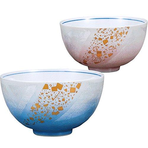 Kutani ceramics Kutani ware tea cups Silver: gold leaf leaflet AK4-0346 by Kutani