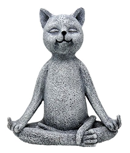 Funny Guy Mugs Garden Gnome Statue - Middle Finger Cat - Indoor/Outdoor Garden Gnome Sculpture for Patio, Yard or (Patio Sculpture)
