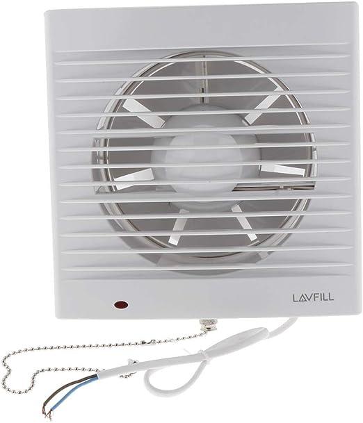LOVIVER Baño Techo Montaje En Pared Ventilador Ventilación Ventilación De Aire Ventilador De Escape Inodoro Baño: Amazon.es: Hogar