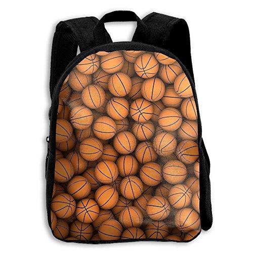 Kids School Bag Double Shoulder Print Backpacks BasketBalls Travel Gear Daypack Gift
