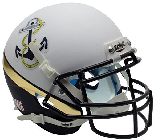 Schutt Navy Midshipmen Mini XP Authentic Helmet - NCAA Licensed - Navy Midshipmen Collectibles