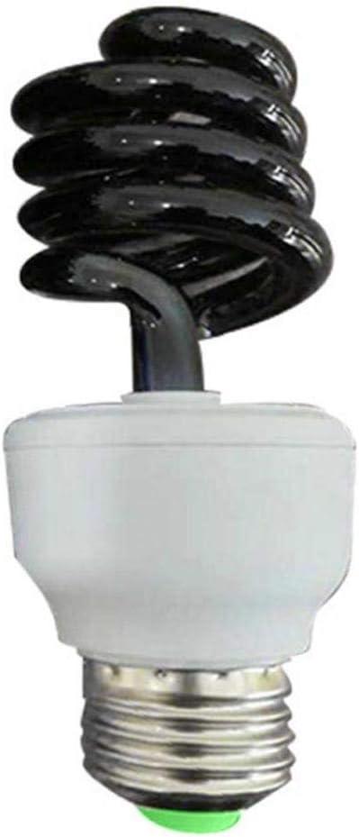 Aardich lámpara de Trampa para Insectos luz Negro para Estanque de Peces huerto Lámpara Trampa para Moscas insecticida jardín [Medio Medio Espiral 4W] [22V] [11V]