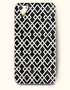 OOFIT Apple iPhone 4 4S Case Moroccan Pattern ( Black and White Geometric Window )