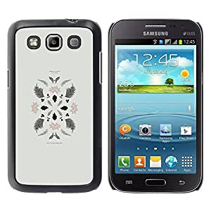 Paccase / SLIM PC / Aliminium Casa Carcasa Funda Case Cover - Leaves Art Minimalistic Composition - Samsung Galaxy Win I8550 I8552 Grand Quattro