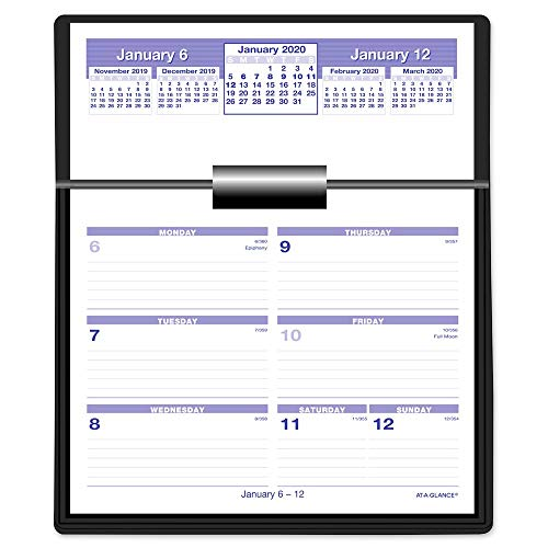 AT-A-GLANCE 2020 Weekly Desk Calendar Refill, 6