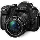 "Panasonic Lumix DMC-G80MEC-K - Kit de cámara Evil con Objetivo F3.5-5.6 12-60 mm (Pantalla de 3"", estabilizado óptico, 4K, WiFi), Color Negro"