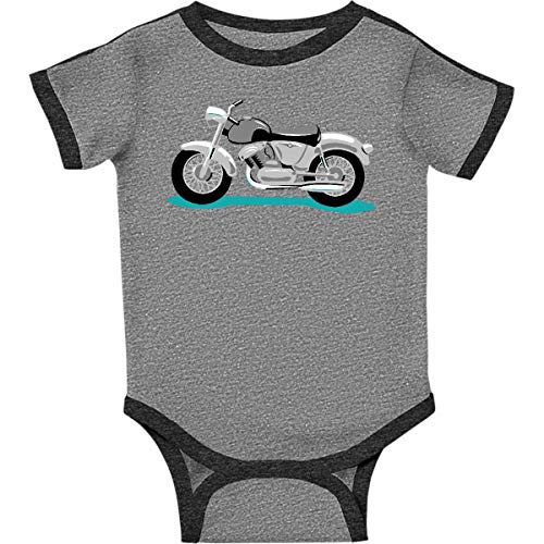 inktastic Motorcycle Infant Creeper 18 Months Ringer Heather and - Motorcycle Ringer