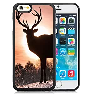 Beautiful Custom Designed Cover Case For iPhone 6 4.7 Inch TPU With Elk Silhouette Phone Case