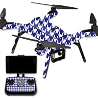 Skin For 3DR Solo Drone – Blue Houndstooth | MightySkins Protective, Durable, and Unique Vinyl Decal wrap cover | Easy To Apply, Remove, and Change Styles | Made in the USA
