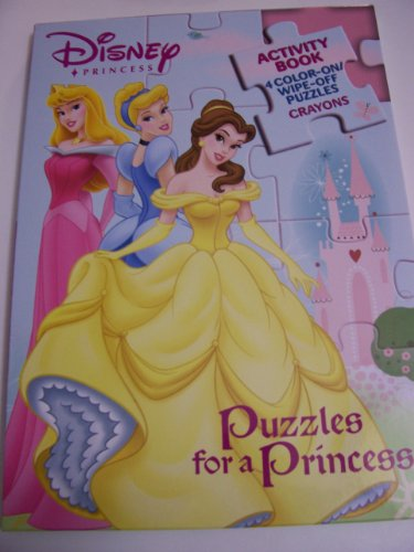 Disney Princess Puzzles for a Princess (Coloring & Activity Book, 4 Color Your Own Puzzles, and Crayons) - Sleeping Beauty Jigsaw Puzzle Book