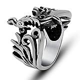 "LOMOL Punk Cool Personality Popular Fashion ""Phoenix""Titanium Steel Ring"