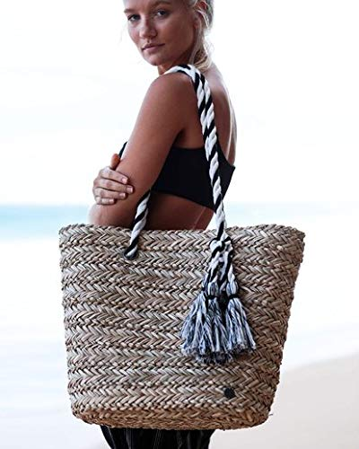 - Billabong Women's Island Time Straw Tote Bag Natural One Size