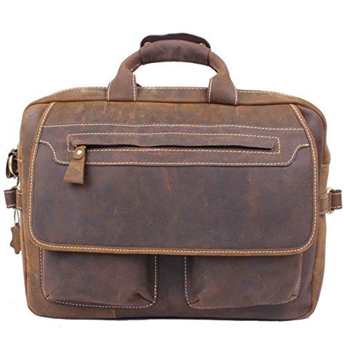 Men's Handmade Vintage Leather Briefcase / Leather Messenger Bag / 15'' MacBook Pro 14'' Laptop Bag / Travel Bag by Memory1985 (Image #2)