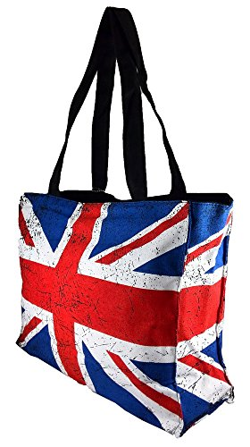 Robin Ruth Canvas Umhängetasche London Union Jack in weiß (Maße: LxHxT 36x29x11cm)
