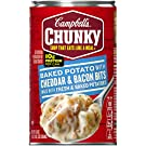Campbell's Chunky Soup, Baked Potato with Cheddar & Bacon Bits, 18.8 Ounce (Pack of 12) (Packaging May Vary)