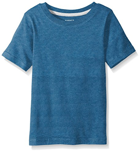 French Toast Toddler Boys' Short Sleeve Crew Neck Tee, Rush of Blue Heather, 3T