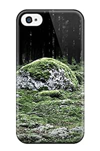 Cute Appearance Cover/tpu UGoftTh2752WKDwU Moss Covered Stone In The Woods Case For Iphone 4/4s