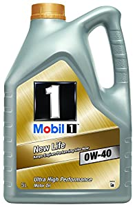 mobil 1 new life 0w 40 engine oil 5l car. Black Bedroom Furniture Sets. Home Design Ideas