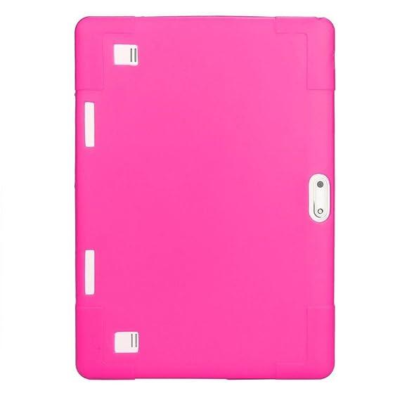 NIUQY Funda silicona universal lujo personalizada Seguridad Prevención pérdidas a prueba golpes Adecuado para 10 10.1 pulgadas Android Tablet PC + ...