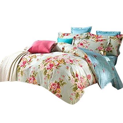 Amazon Com Ttmall Twin Full Queen Size 100 Cotton 3 Pieces Green