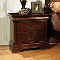 247SHOPATHOME IDF-7952N, nightstand, Cherry