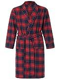 Latuza Men's Cotton Flannel Robe S Red