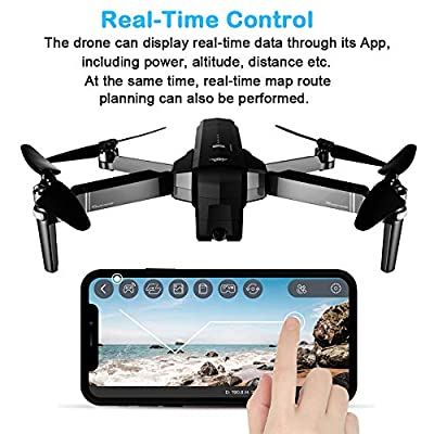 PinPle SJRC F11 GPS Drone 5G WiFi FPV RC Quadcopter Drone Foldable 1080P Camera Record Video App Control iOS Android One-Key RTH Follow Me 3D Visual Brushless Motor Track Flight Headless