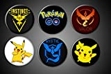 apple app magnets - Pokemon Go Magnets or Pins Set Mobile Phone App Teams Valor Mystic Instinct and Title Active FInd the Pokemon Android and Apple (Pinbacks, 1.75 Inches)