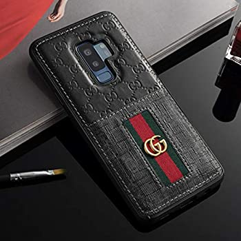 the latest b2749 726e7 Galaxy S9 Case- US Fast Deliver Guarantee FBA- Elegant Luxury PU Leather  Designer Case with Card Holder Slot Cover for Galaxy S9