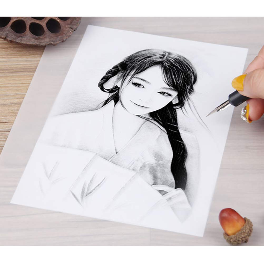 YOTINO Tracing Papers 100 Sheets Transparent Tracing Paper for Printing,