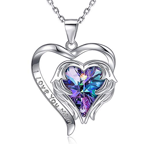Heart Crystal Necklace for Women - 18