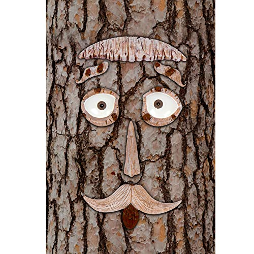 Hilarious Home 7-PC-Piece Tree Face Set Whimsical Outdoor Garden Decoration