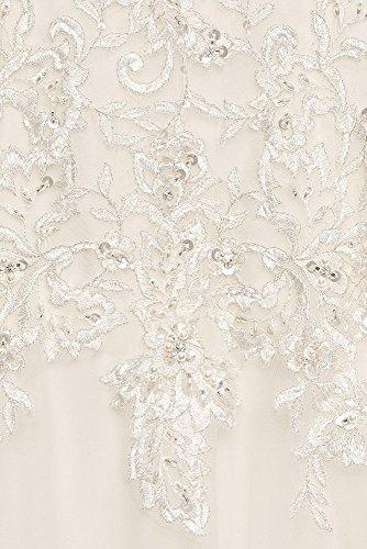 Échantillon: En L'état Perles Dentelle Tulle Style Robe De Mariée Robe De Bal Ai12010167 Ivoire