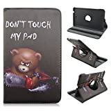 AFLY 360 Degree Rotating Folio Smart PU Leather Cover Case for Samsung Galaxy Tab 4 8.0 SM-T337 SM-T337a SM-T330 SM-T330NU SM-T331 SM-T335