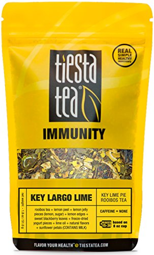 Key Lime Pie Rooibos Tea | KEY LARGO LIME 1.8 Ounce Pouch by TIESTA TEA | Caffeine Free | Loose Leaf Herbal Tea Immunity Blend | Non-GMO -