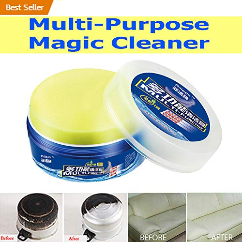 HOMEJU [2019 Upgrated] Multi-Surface Cleaner, Multifunctional Magic Cleaner Leather Refurbishing Cleaner Cleaning Cream Repair Tool Cream for Glass Leather Furniture Metal Floor (1 Pack)