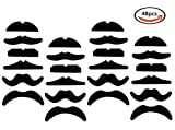Toys : LuckyStar365 48 pcs Novelty Fake Mustaches, Mustache Party Supplies, Self Adhesive Mustaches for Masquerade Party & Performance