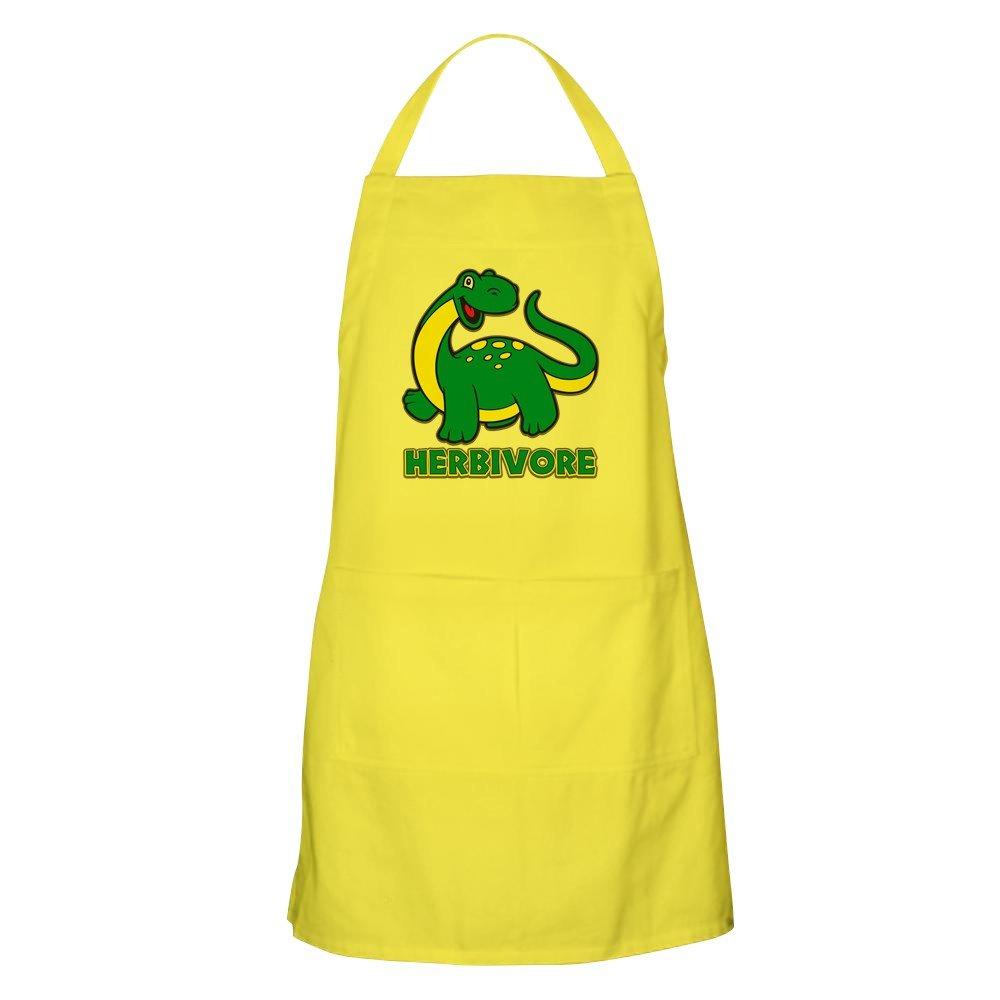 CafePress – 草食恐竜エプロン – キッチンエプロンポケット付き、グリルエプロン、Bakingエプロン イエロー 070939726929A30  レモン B073XDHLZH