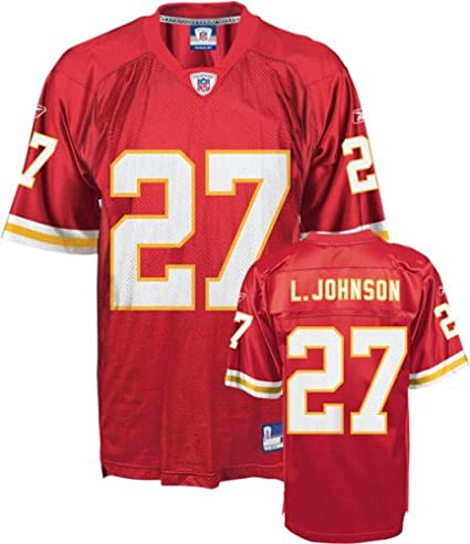 huge selection of 842c5 01774 Reebok Larry Johnson Jersey Red Replica #27 Kansas City Chiefs Jersey