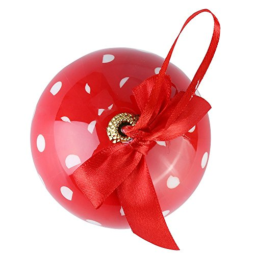 Cue Cue Festive Ready to Hang 24 Peice Red with White Polka Dots Ornament Set by Cue Cue (Image #2)